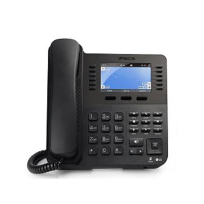 Front of Black Desk Phone Receiver