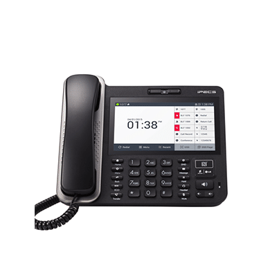 Black Desk Phone Receiver front facing with Touch Screen